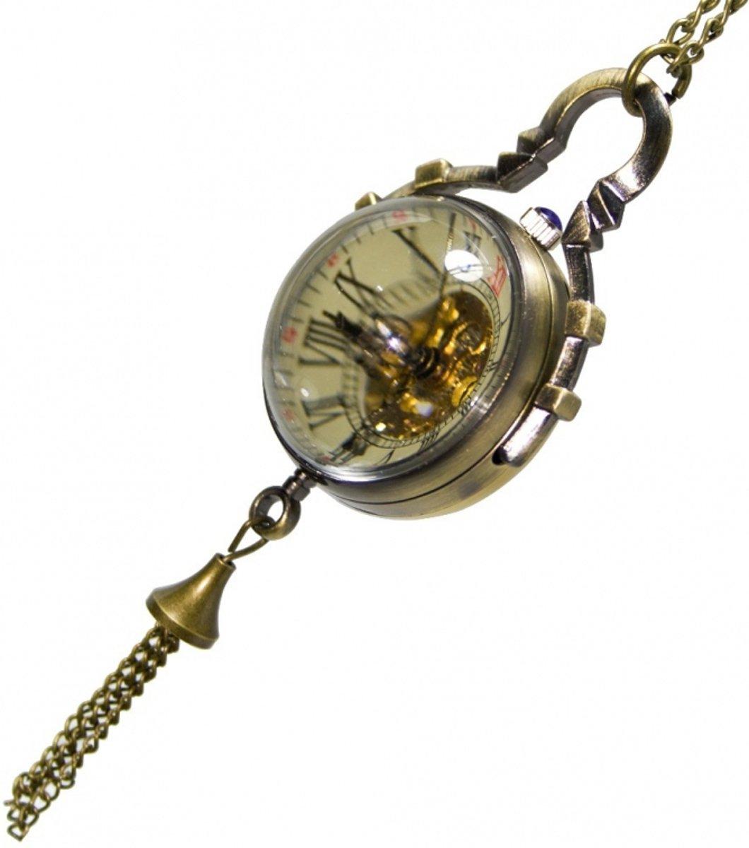Ketting horloge groot Fisheye- Brons # 50 kopen