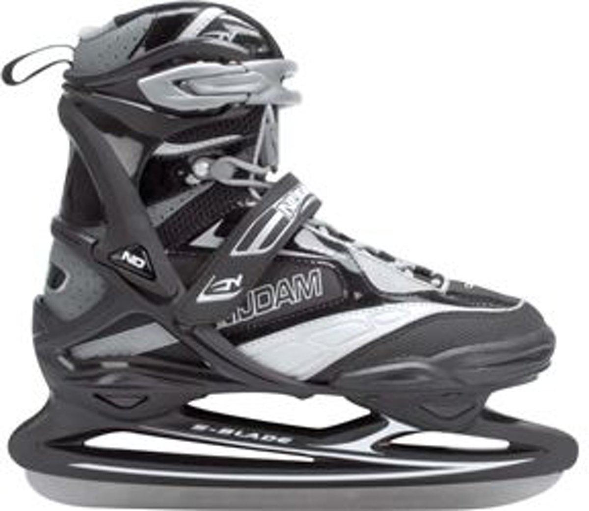 Nijdam 0108 Pro Line IJshockeyschaats - Schaatsen - Mannen - Zwart - Maat 45