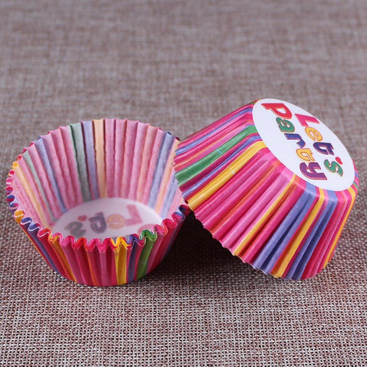 200x Cupcake papier met leuk patroon kopen