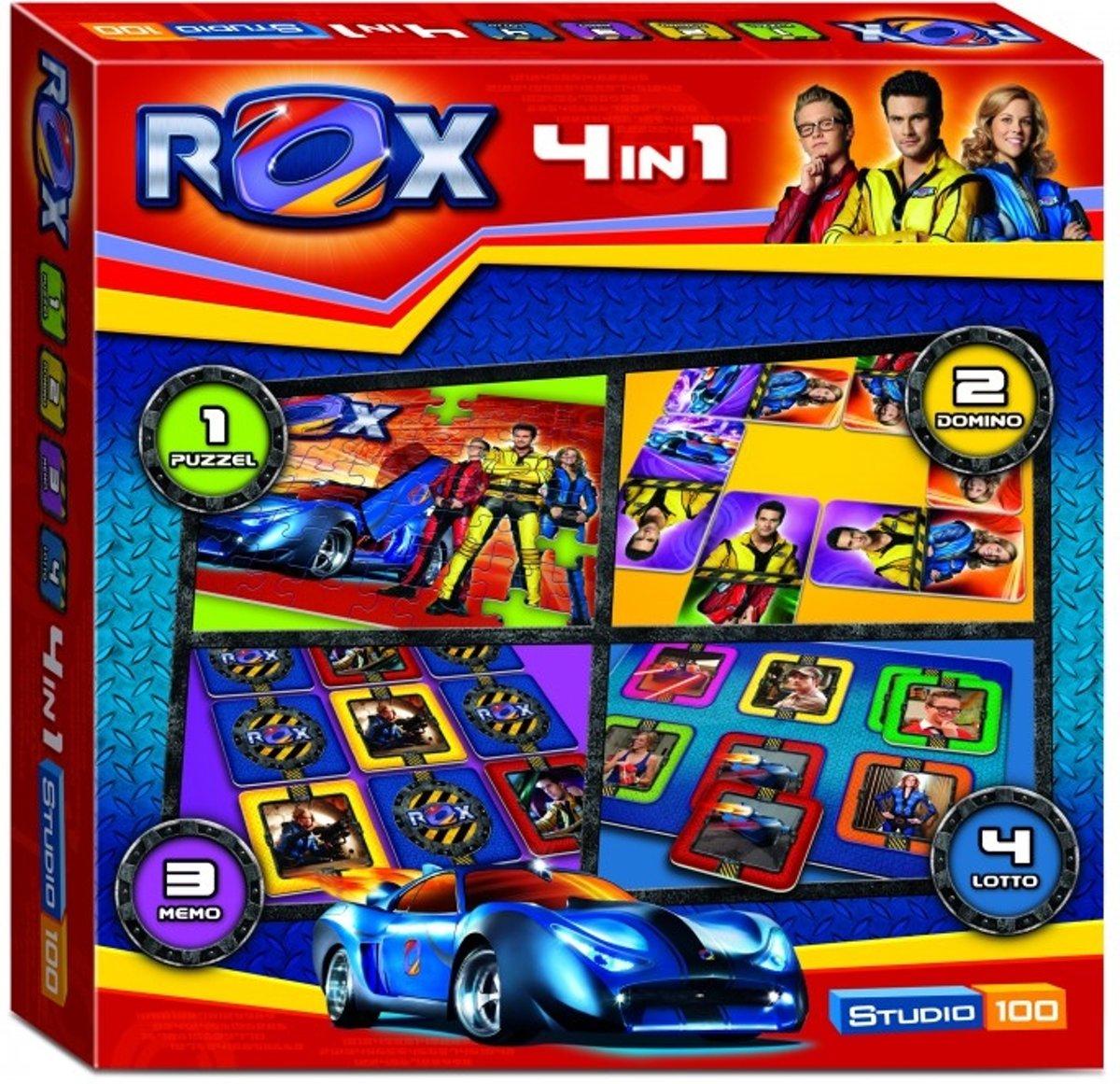 Rox 4 in 1 Speldoos - Kinderspel
