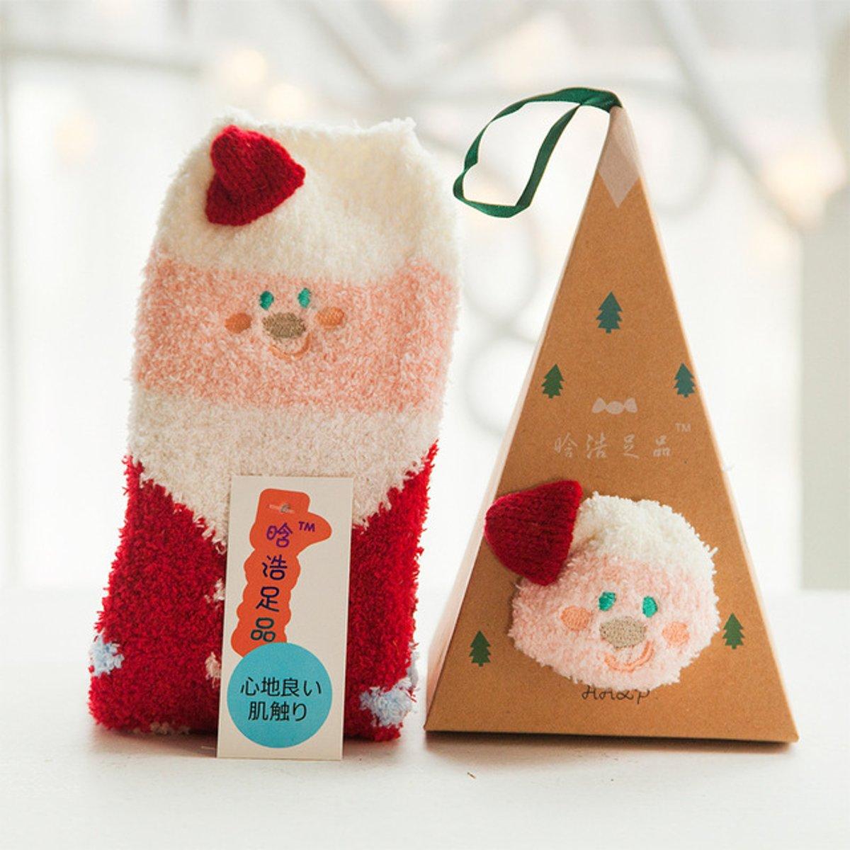 Fluff - Kerst Sokken | Kerstman | Piramide Doos kopen