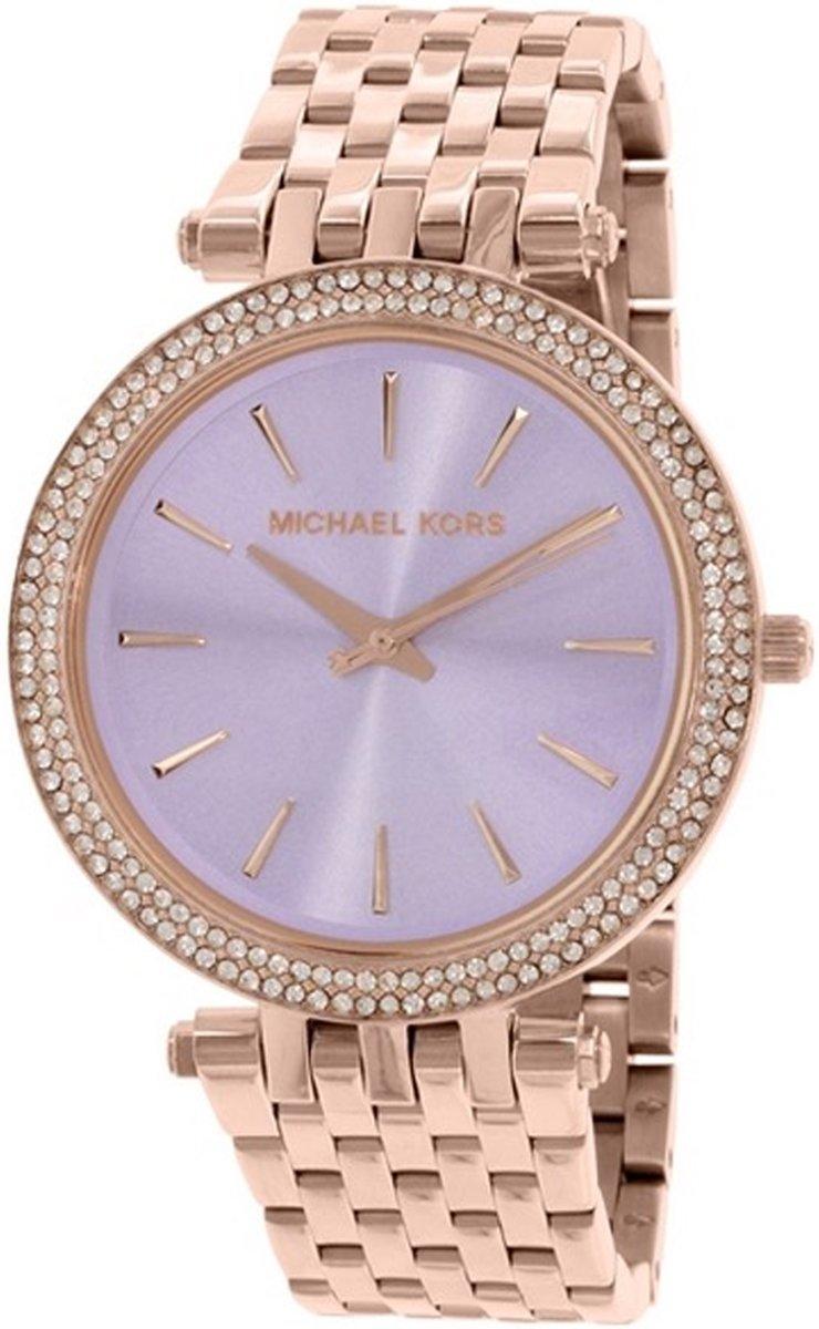 Michael Kors MK3400 Horloge Staal Rosékleurig 39 mm