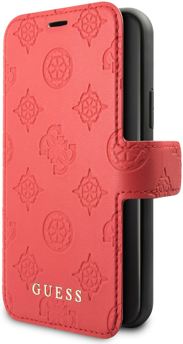 Guess 4G Peony Bookcase Rood iPhone 11 Pro hoesje