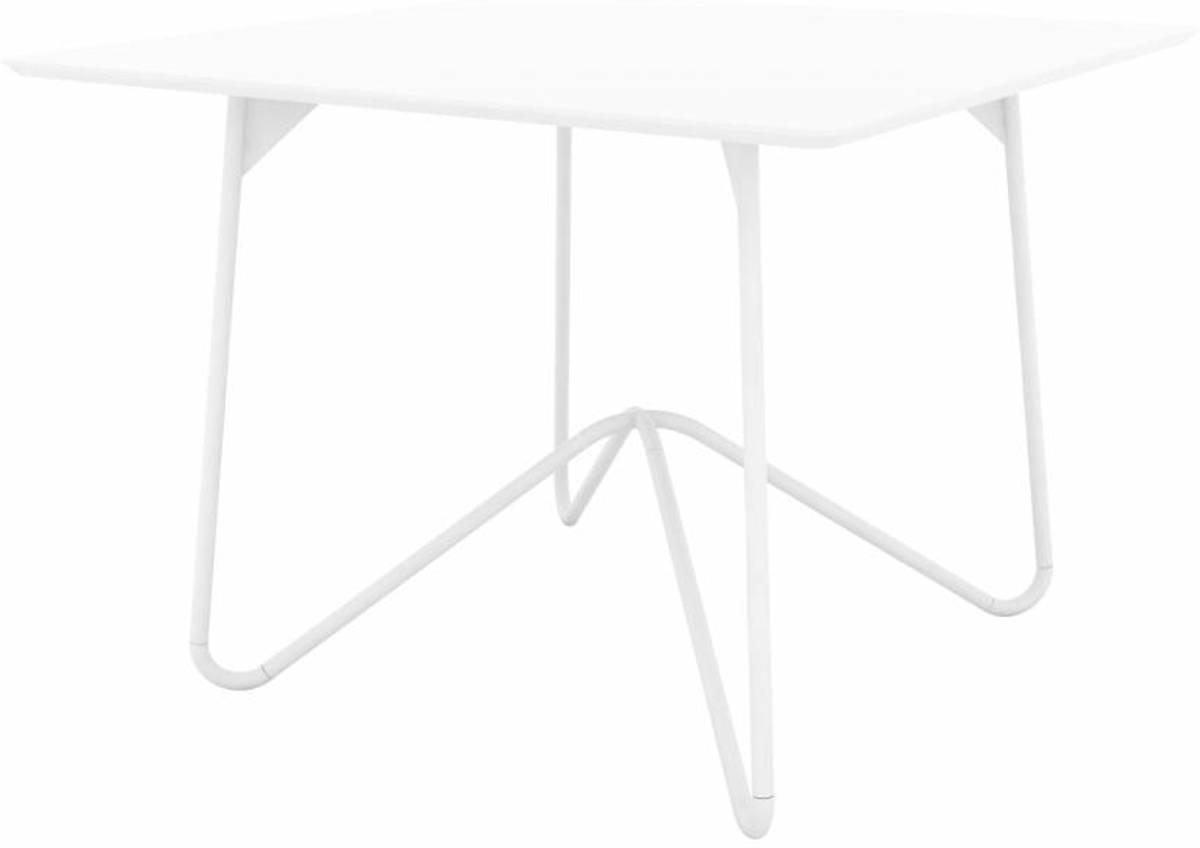Vierkante Eettafel 100 X 100.Star Eetkamertafel Vierkant 100x100 Cm Wit