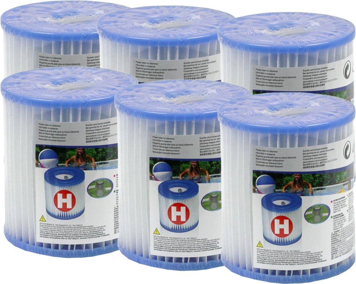 Six pack Intex Filtercartridge H