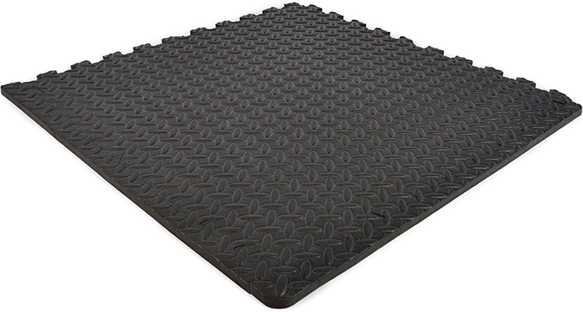 EVA FOAM tegels zwart 62x62x1,2cm (set van 12 tegels + randen) kopen