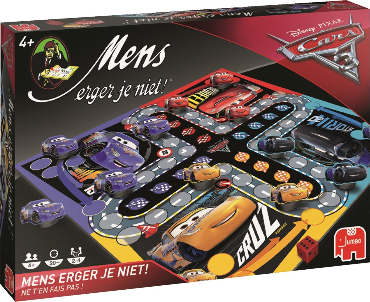 Disney Cars 3 Mens Erger Je Niet!