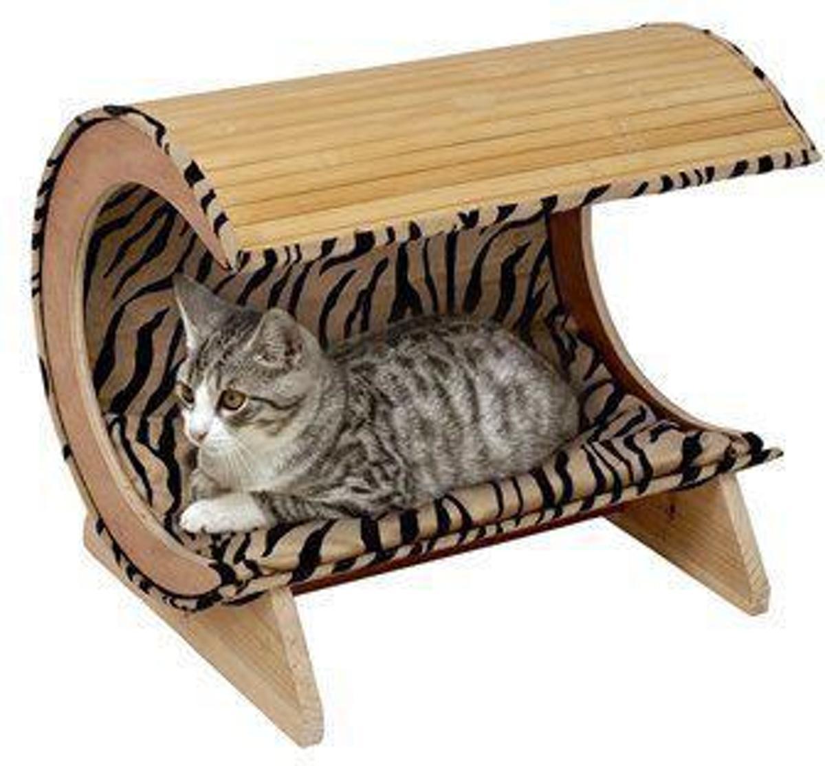 Karlie - Kattenmand Kitty Bamboo I Zebra 52 x 38 x 4 cm