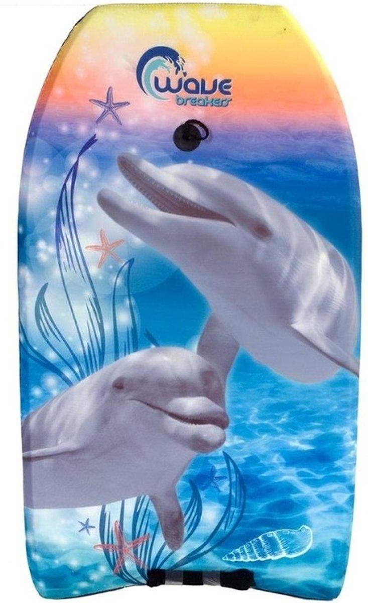 Bodyboard dolfijn dieren print 83 cm - Surfplank - Drijfplank - Zwemplank - Waterspeelgoed