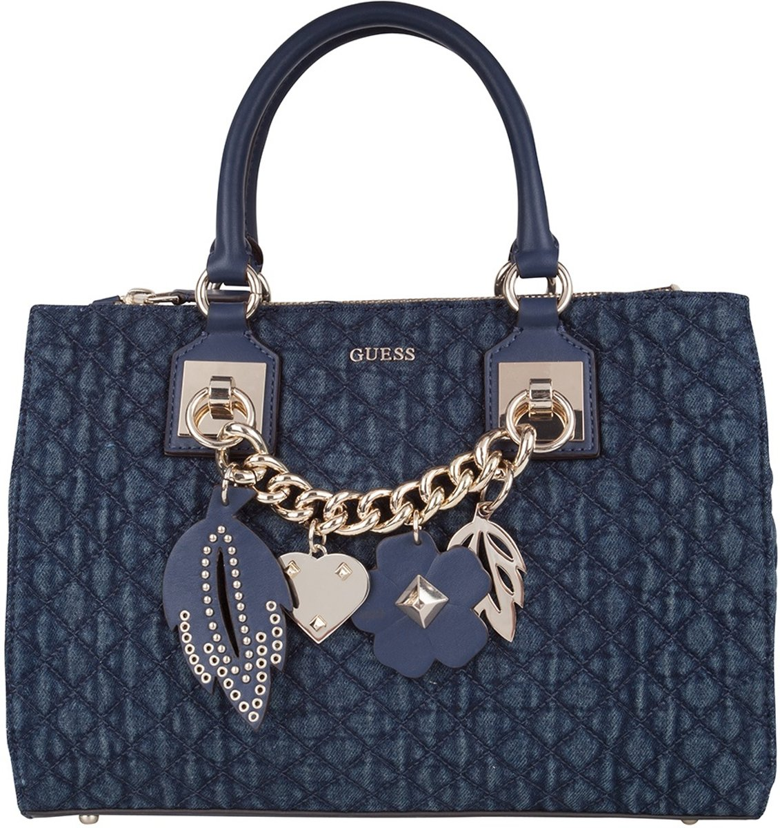 | Guess Tas Stassie Society Satchel Denim