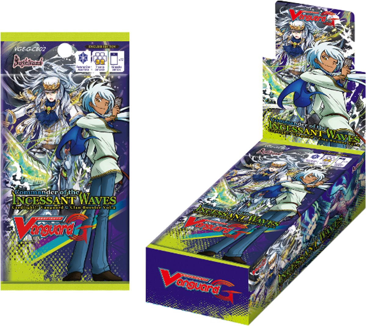 Vanguard: Commander of the Incessant Waves Clan Sealed Booster Display