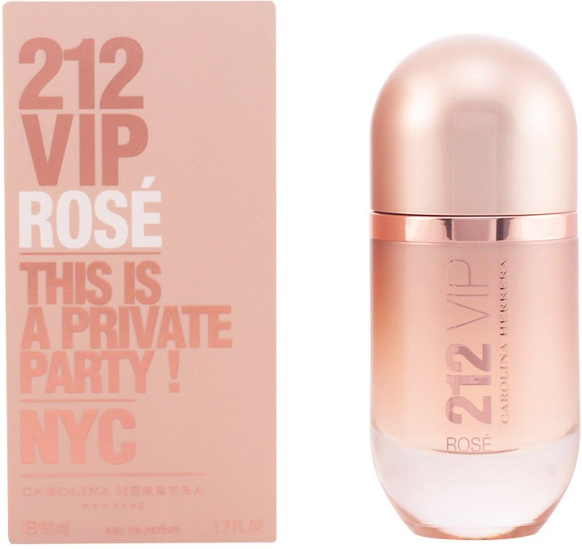 MULTI BUNDEL 2 stuks 212 VIP ROSE eau de parfum spray 50 ml