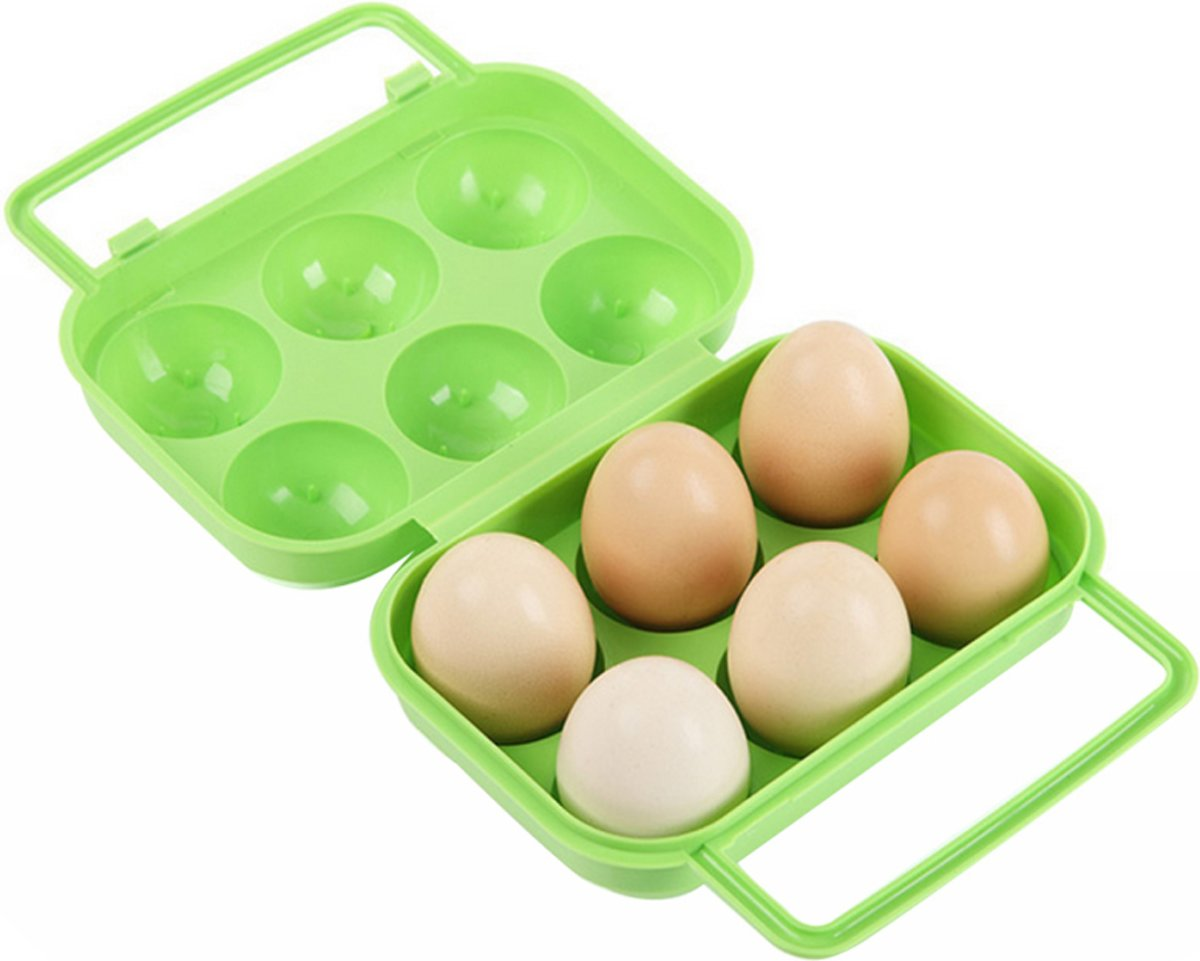 Ei beschermer voor picknicken Groen (6 eieren) kopen