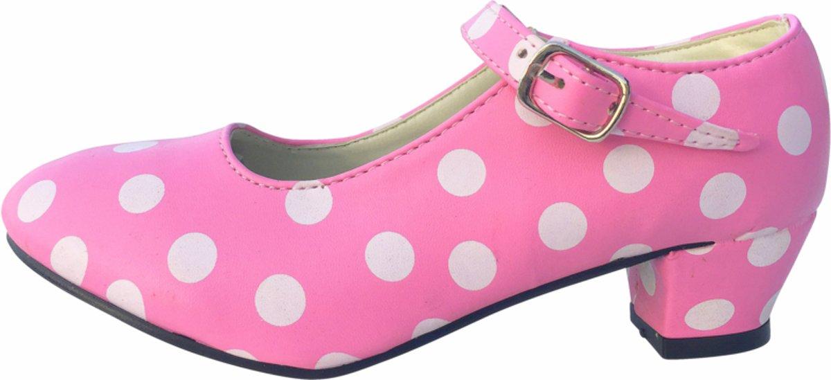 dfdaa0fe942 Spaanse prinsessen schoenen roze wit maat 36 (binnenmaat 23 cm) bij jurk