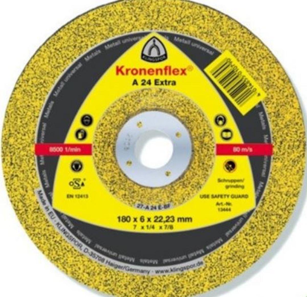 Klingspor Afbraamschijf A 24 EXTRA 180 x 6 x 22,23 mm Kronenflex® Topkwaliteit (1 stuk) kopen