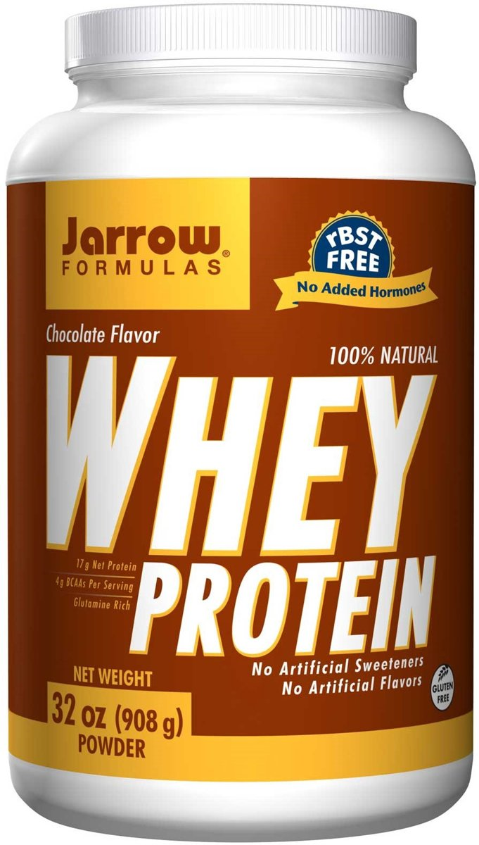 100% Natural Whey Protein Chocolate Powder (908 gram) - Jarrow Formulas kopen
