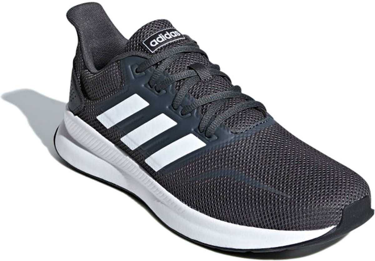 adidas Runfalcon Sneakers Maat 42 Mannen donker grijs wit zwart