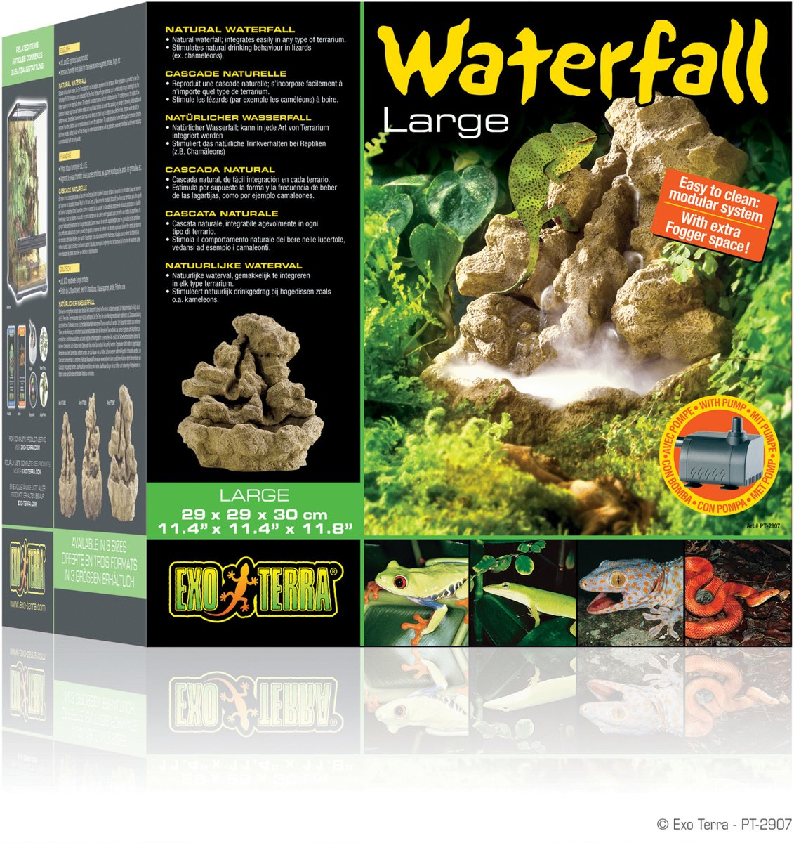 Exo Terra Terrarium decoratie Pebble waterval - 17 x 16 x 20cm