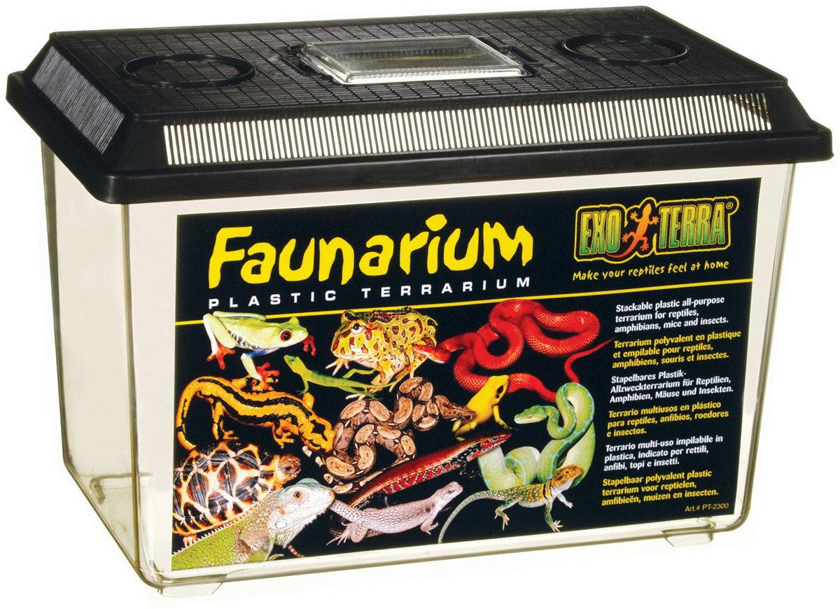 Exo Terra Faunarium - Terrarium - Zwart - 37 x 22 x 25 cm