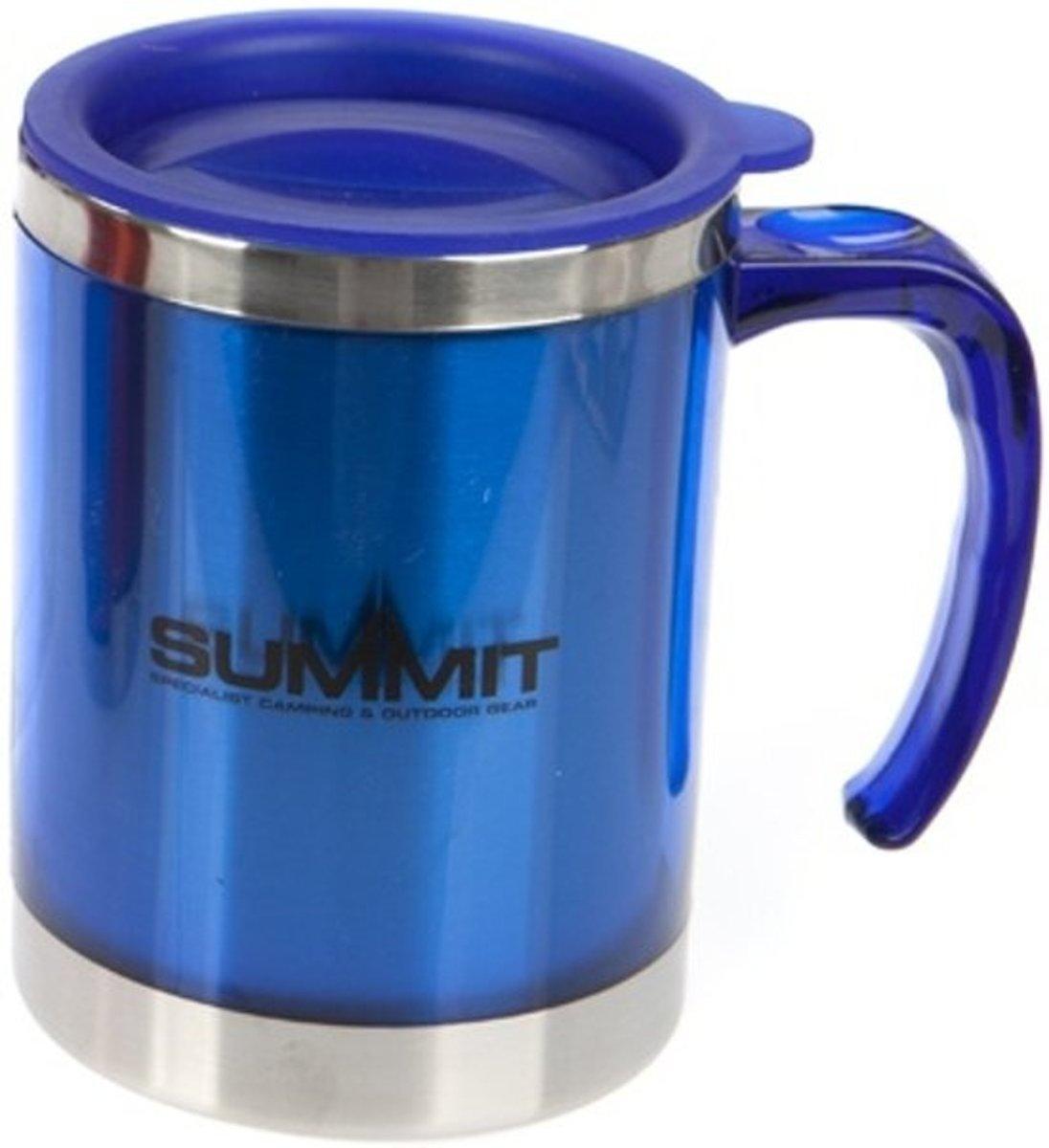 drinkbeker met deksel aluminium blauw 450 ml kopen