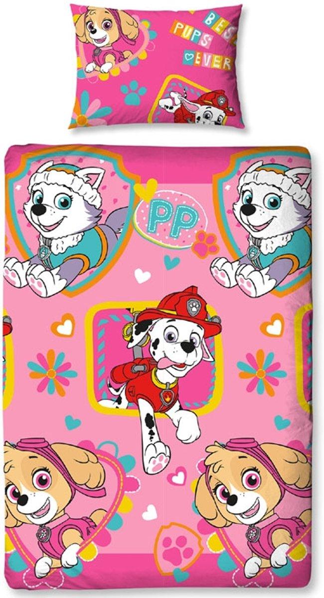 Paw Patrol dekbedovertrek, 1 persoons Paw Patrol dekbed roze kopen