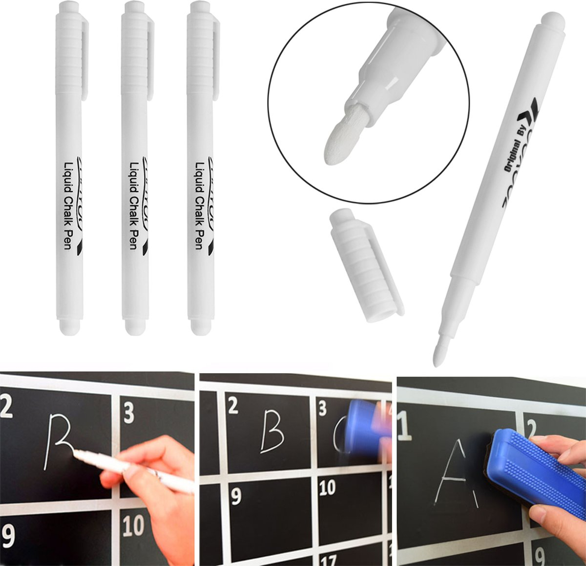 Pens that write on glass and wipe off caravan tow bar