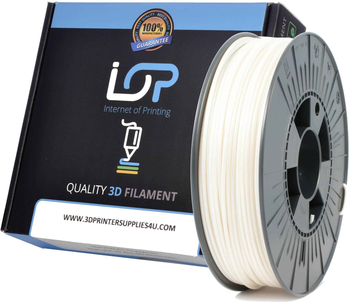 IOP PLA 2,85mm Pearl White 500gr
