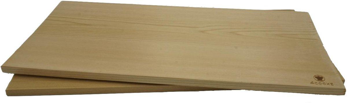 2 stuks 4cookz XL rookplank BBQ / Kamado - cederhout - 19x40cm - PEFC kopen