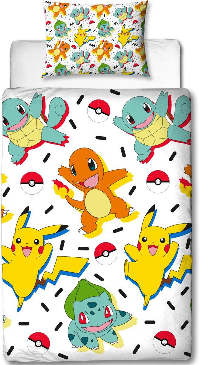 Pokémon Memphis - Dekbedovertrek - Eenpersoons - 135 x 200 cm - Multi kopen