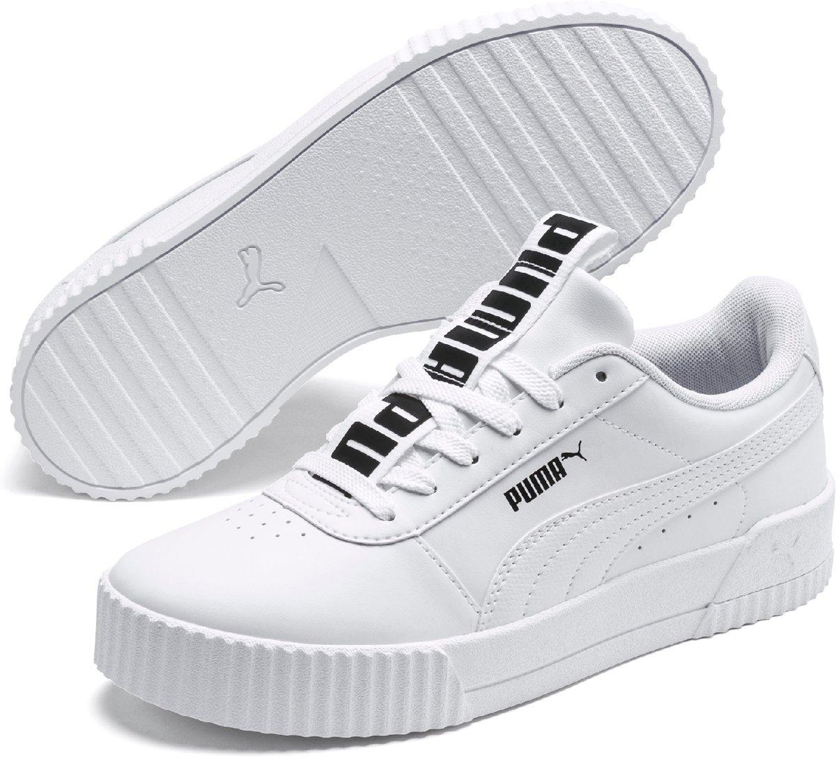 PUMA Carina Bold Dames Sneakers Puma White Puma White Maat 42
