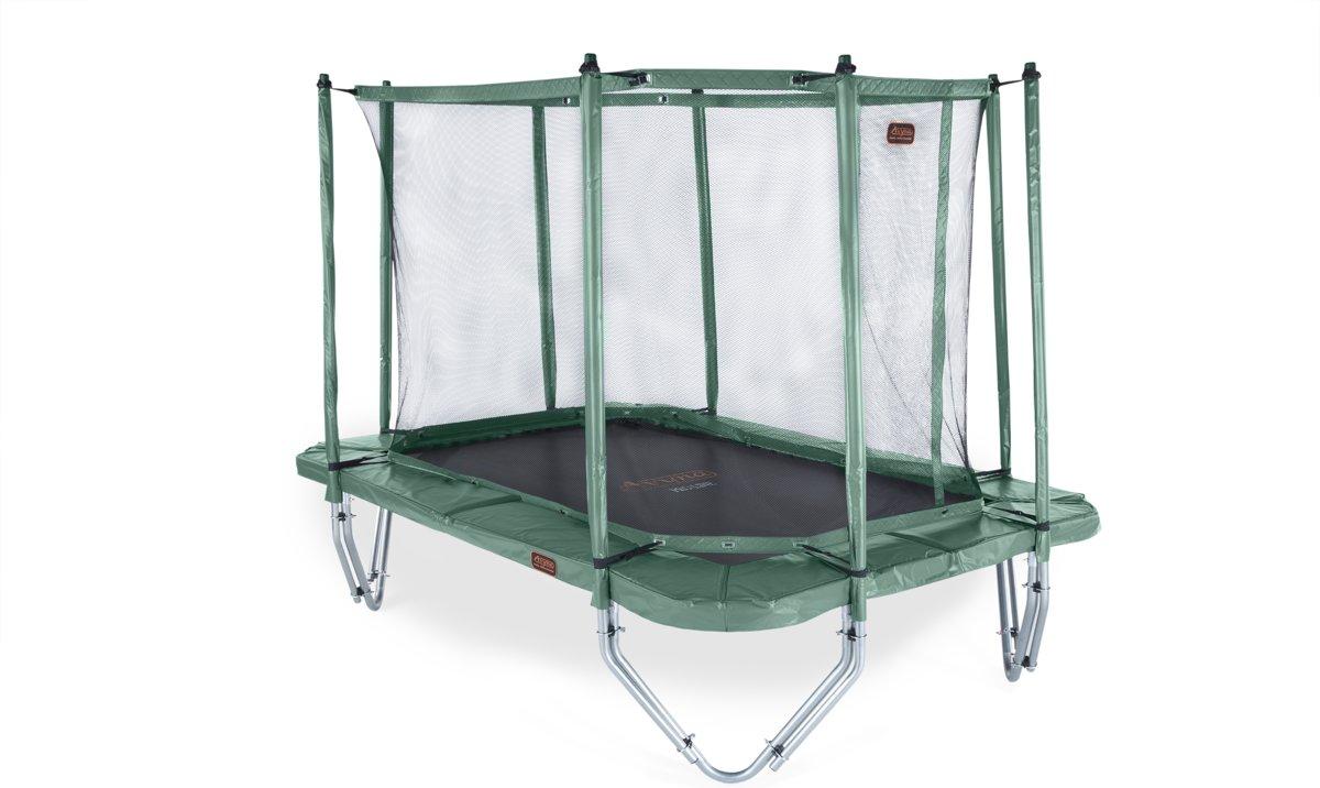 Avyna trampoline PRO-LINE 238 (380x255cm) + net boven + ladder - groen
