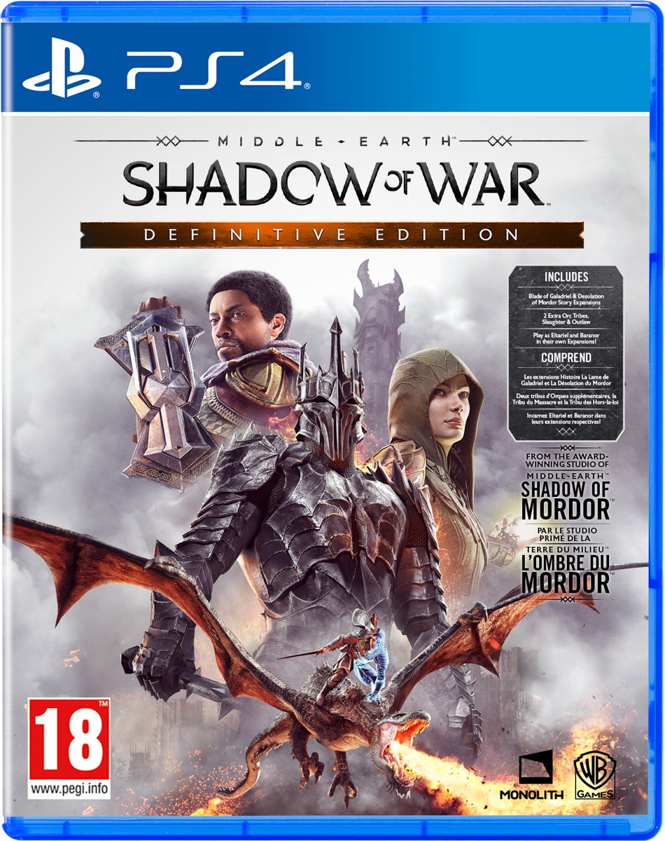 Middle-Earth: Shadow of War - Definitive Edition PlayStation 4