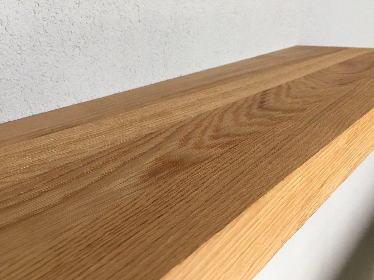 Bol zwevende houten wandplank boekenplank eiken eikenhout