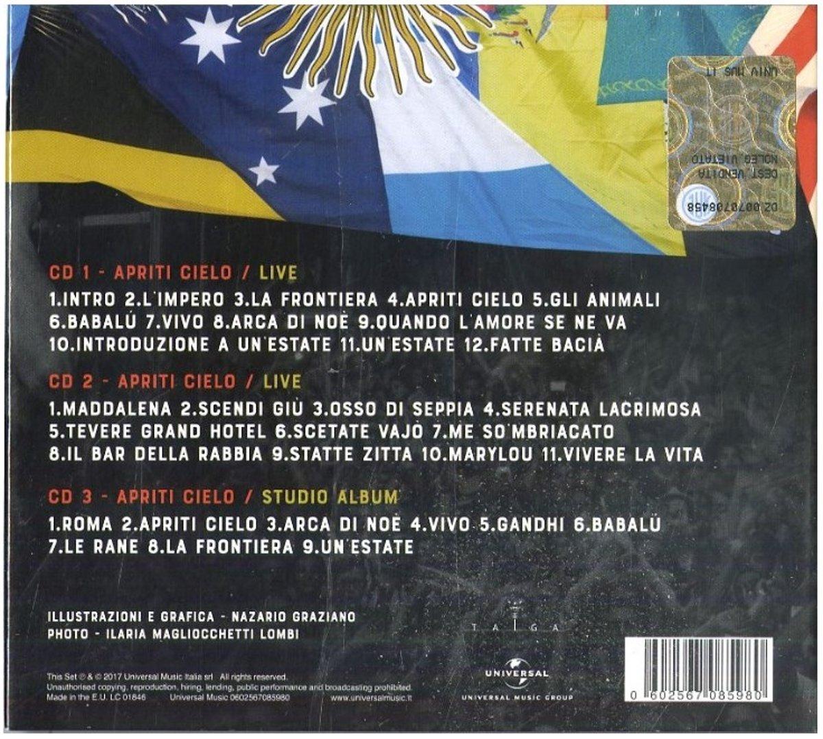 Bolcom Apriti Cielo Mannarino Cd Album Muziek