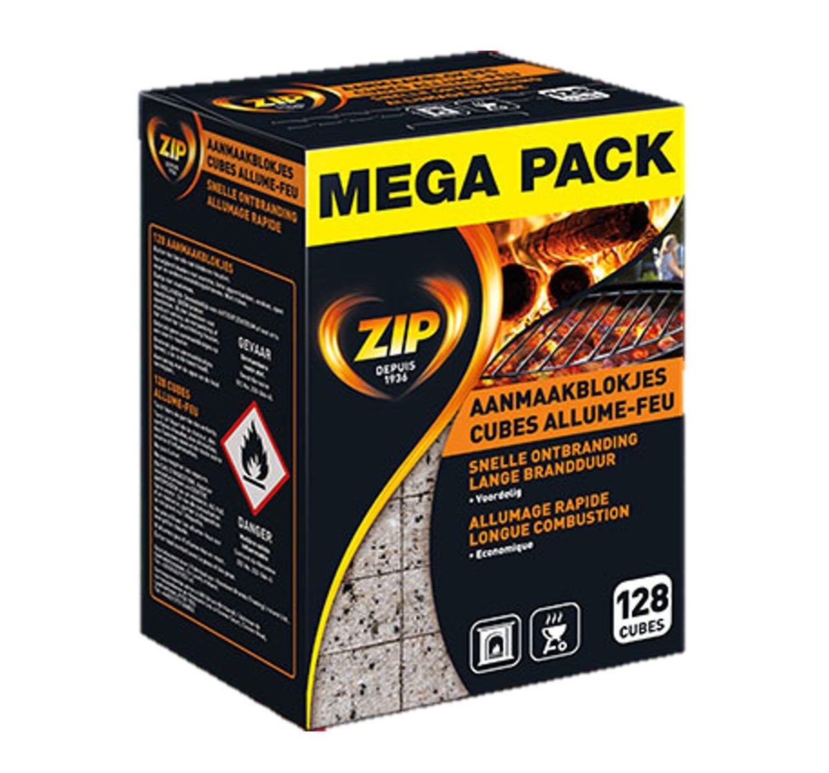 ZIP - Aanmaakblokjes - mega pack - 128 blokjes kopen