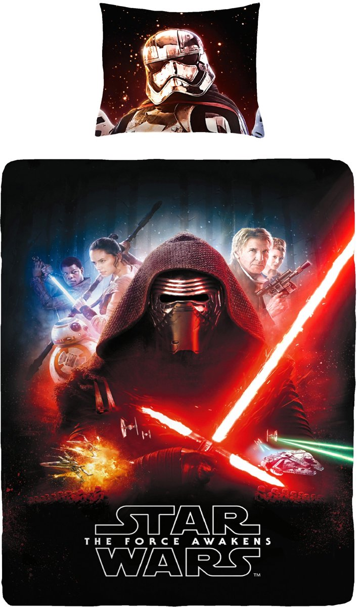 Star Wars The Force Awakens Kinder Dekbedovertrek 140x200 100% Katoen kopen