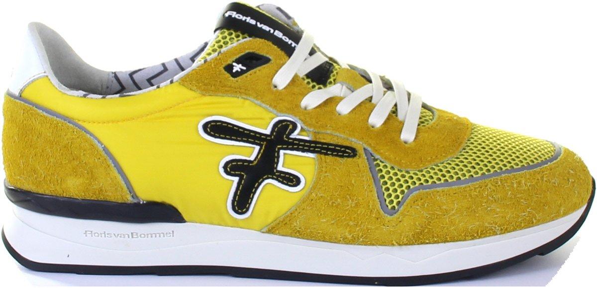 Floris Van Bommel Heren Sneakers 16246 Geel Maat 41.5