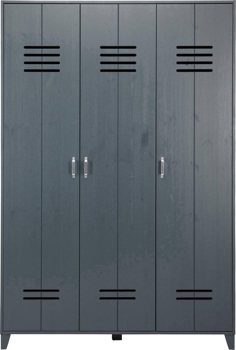 Vtwonen Opberggigant Locker 3 Deurs Granietgrijs 186x123x40