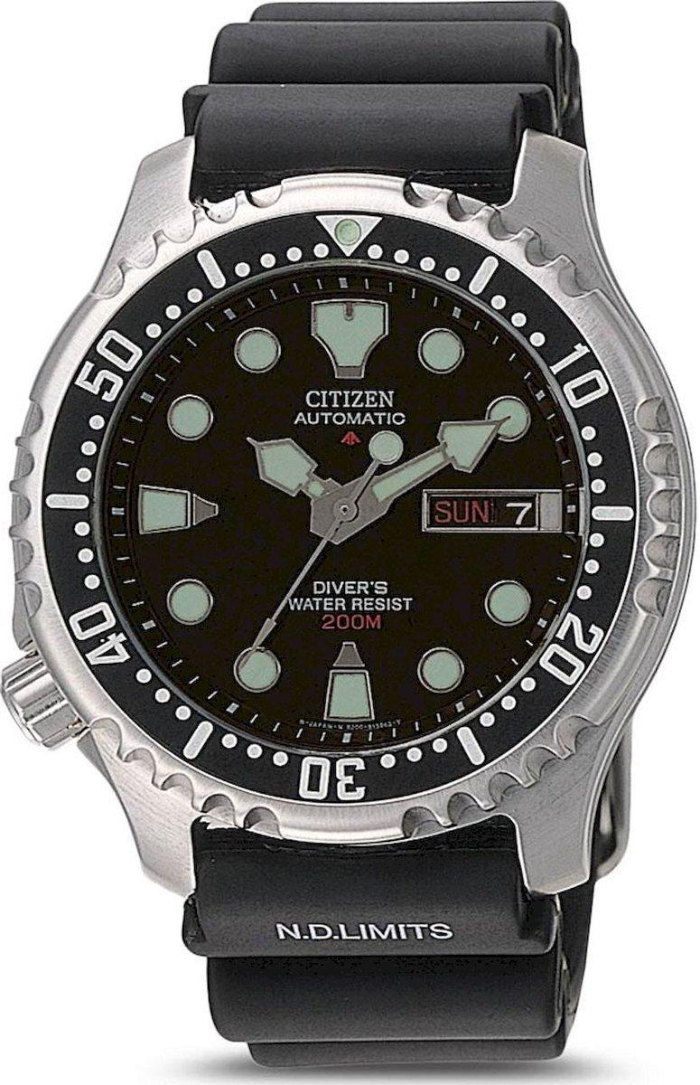 e64766a1d3b0ee Citizen Promaster Diver - Horloge - 42 mm - Zilverkleurig   Zwart -  Automatisch uurwerk