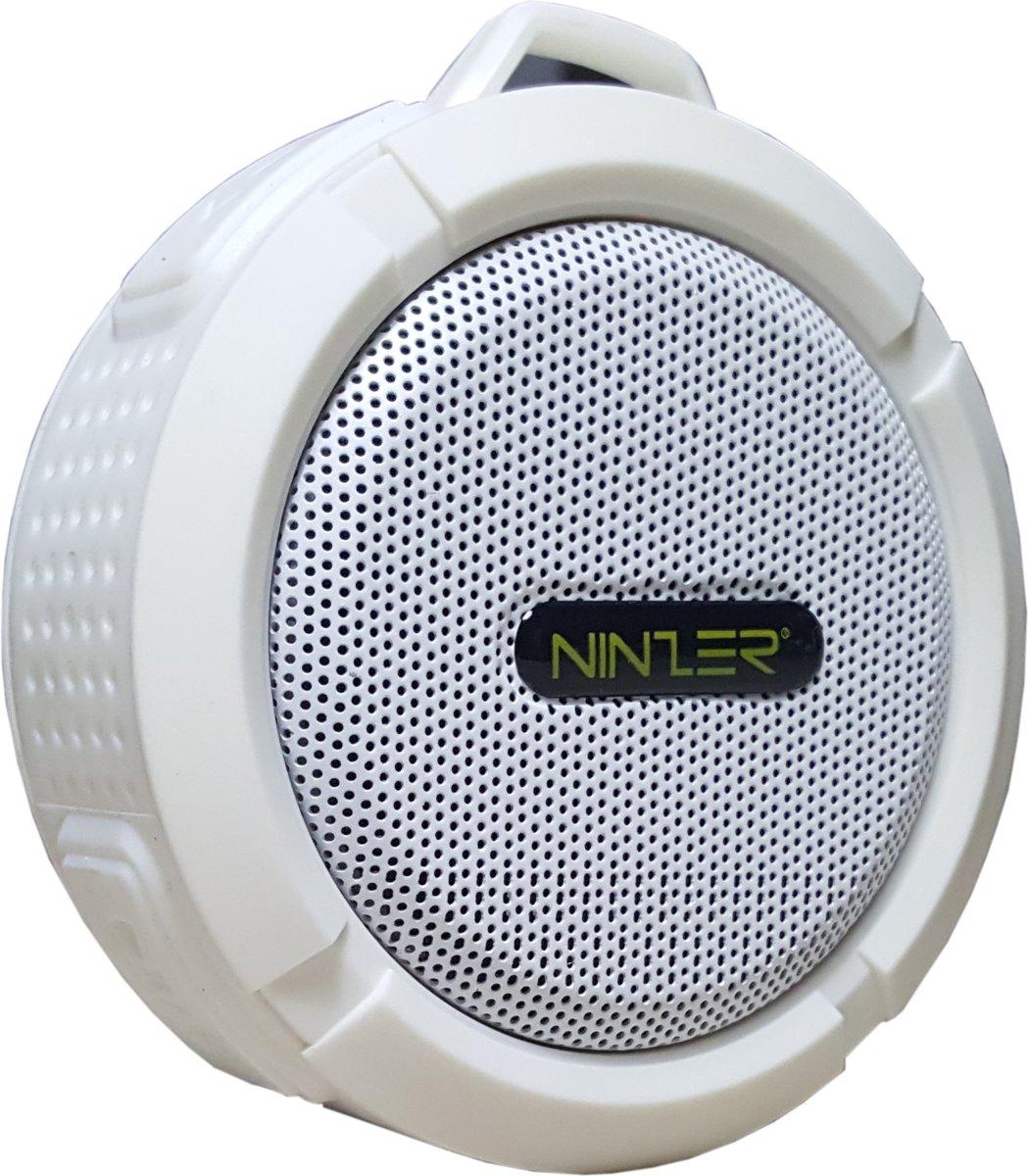 Ninzer Waterdichte Bluetooth Draadloze Speaker voor Douche, Bad of in de Auto | Wit