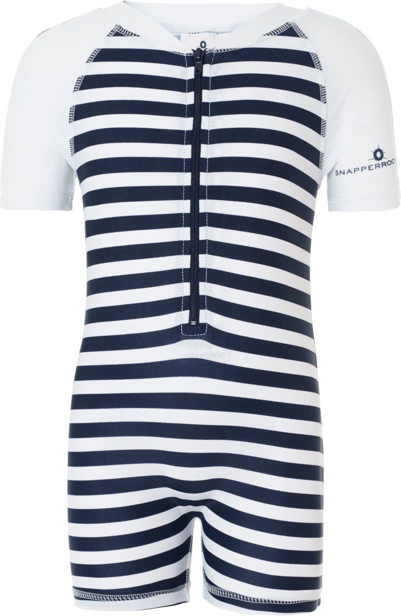Snapper rock Zwemveiligheid UV badpak Navy White stripes    Maat 80cm