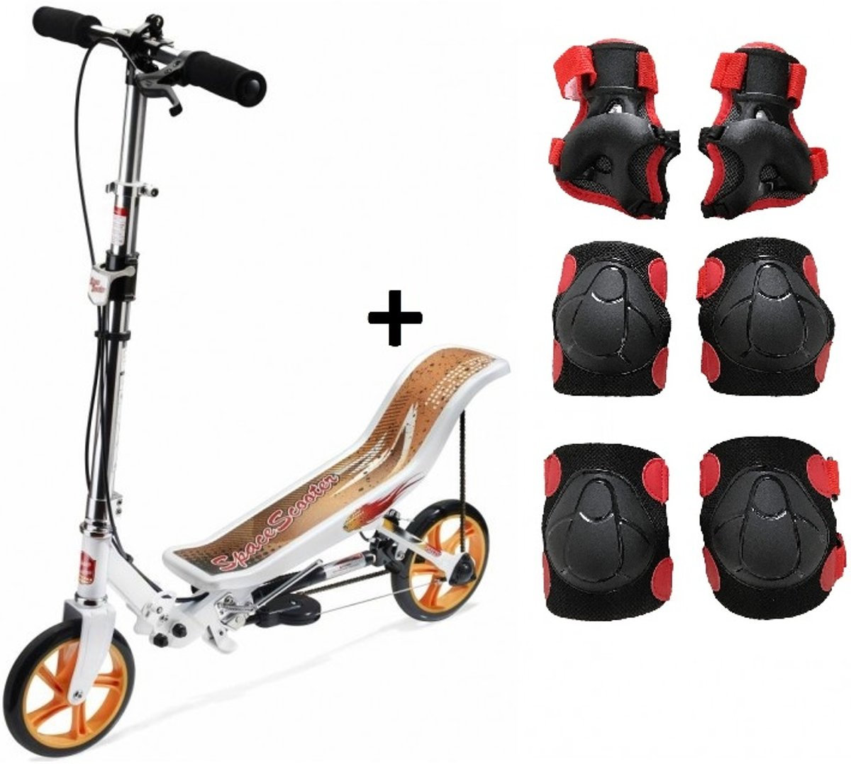 Space Scooter - Step - Wit incl. beschermset