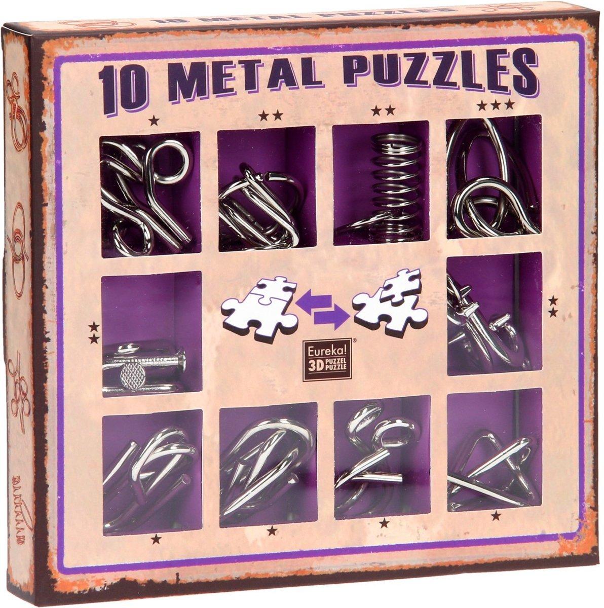 Eureka 10 Metal Puzzles Set Purple kopen