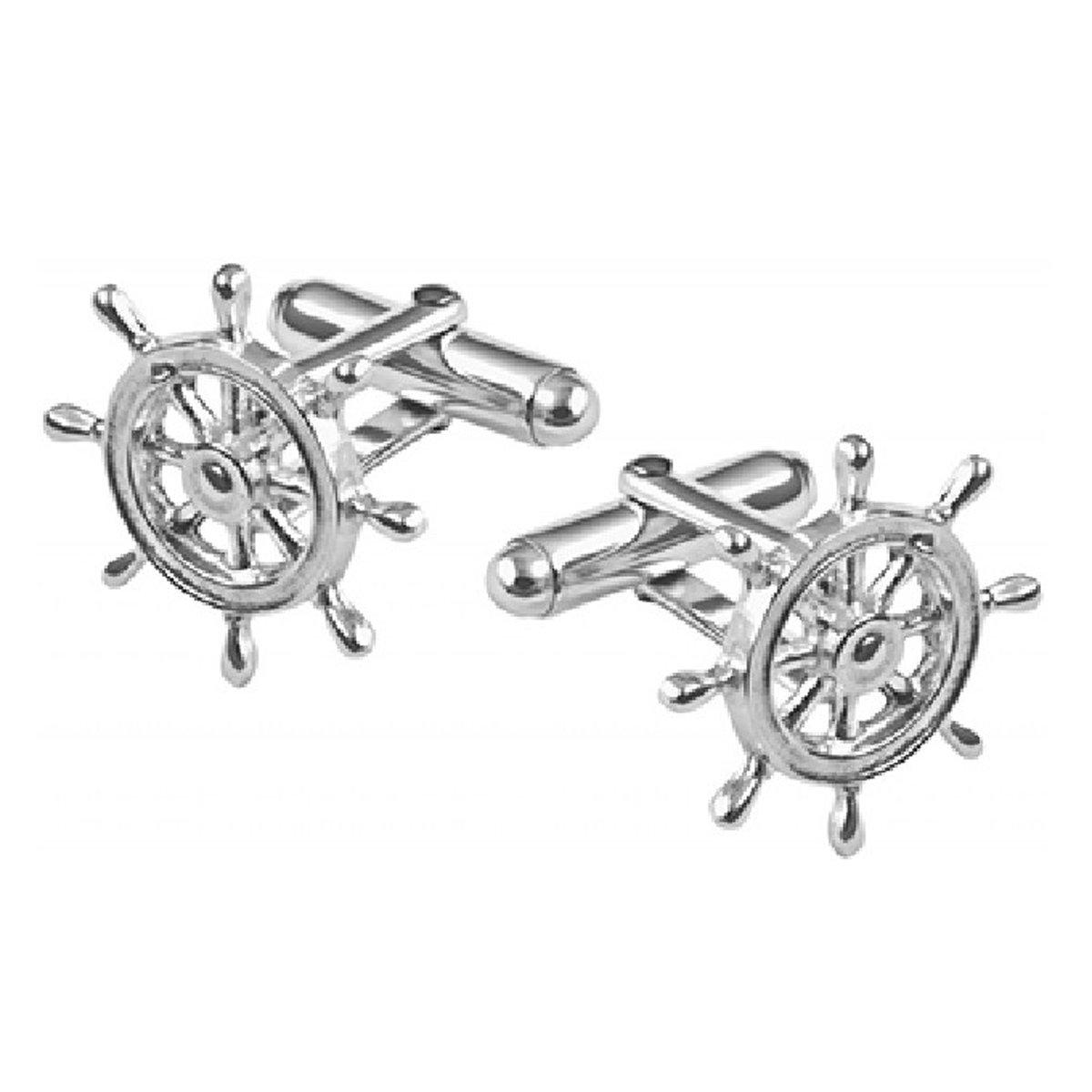 Zilveren manchetknopen van een stuurwiel kopen