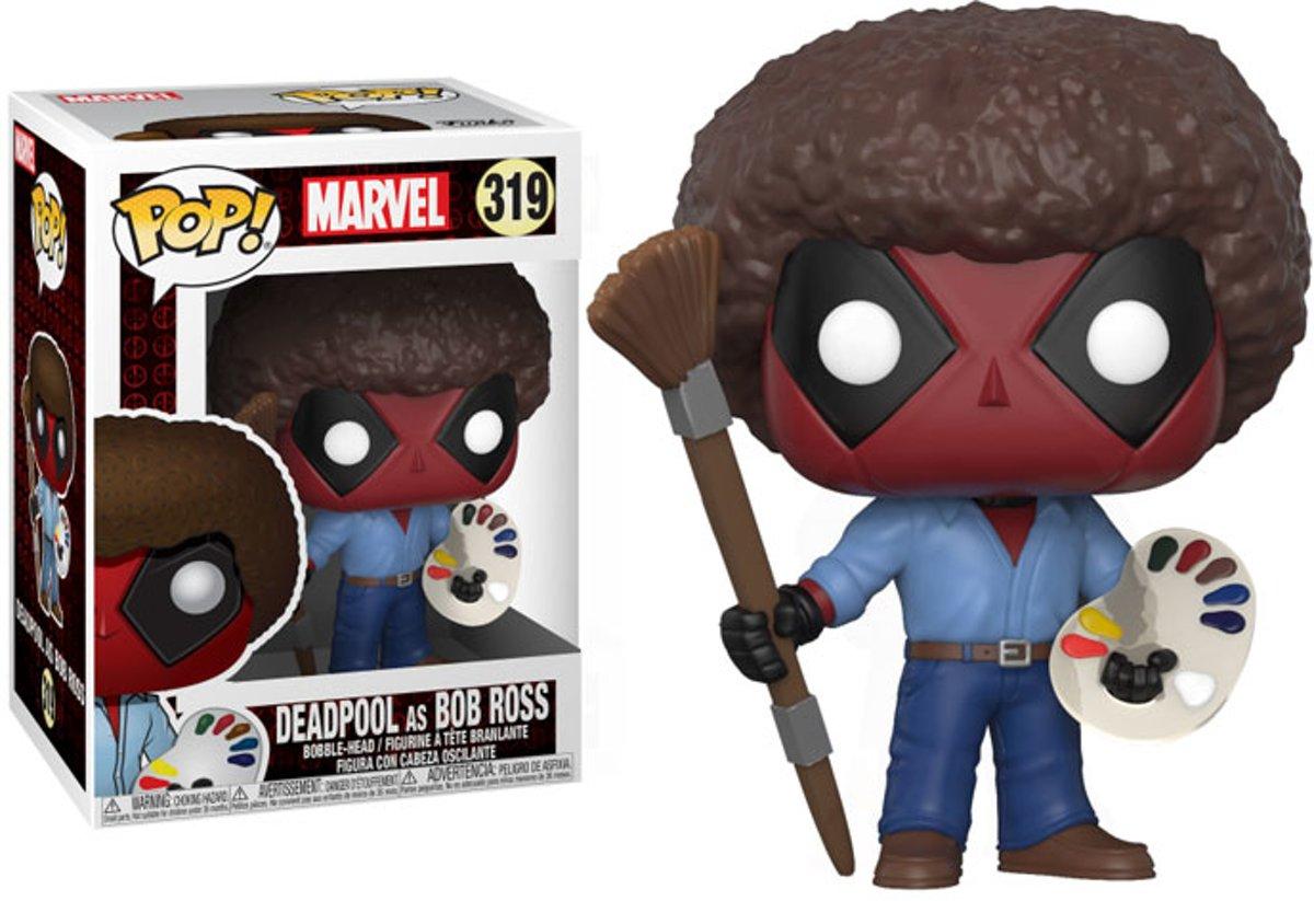 Funko Pop! Marvel Deadpool As Bob Ross - #319 Verzamelfiguur kopen