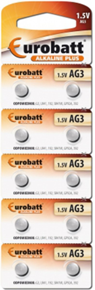 AG3 - BP10 6961 Alkaline Batterijen - Stripverpakking - AG 3 - 1.5 Volt kopen