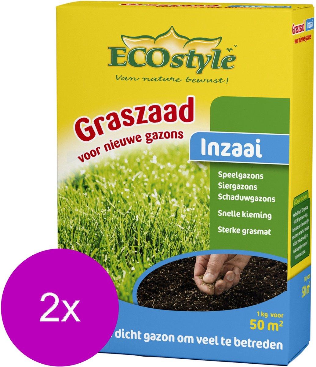 Ecostyle Graszaad-Inzaai 50 m2 - Graszaden - 2 x 1 kg kopen