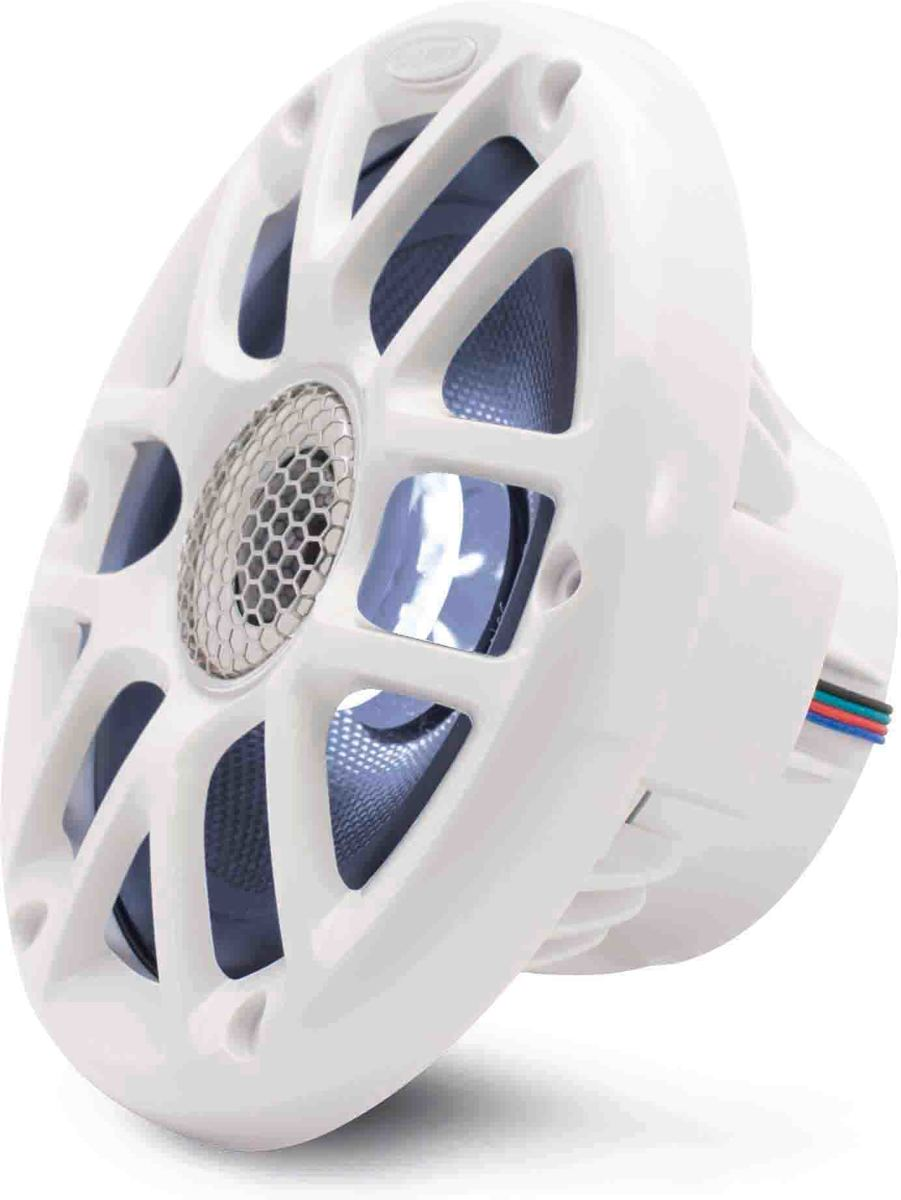 Caliber Marine luidspreker | CSM16RGB/W | 16 cm met Rooster | 60W RMS 120W Max | Led Verlichting App Controlled | Wit kopen