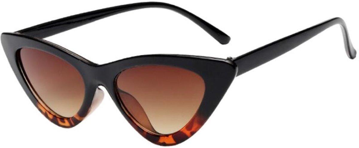 84f907d17fef76 ... Cat eye zonnebril - Tijgerprint sunnies - Stevig - Panterprint montuur