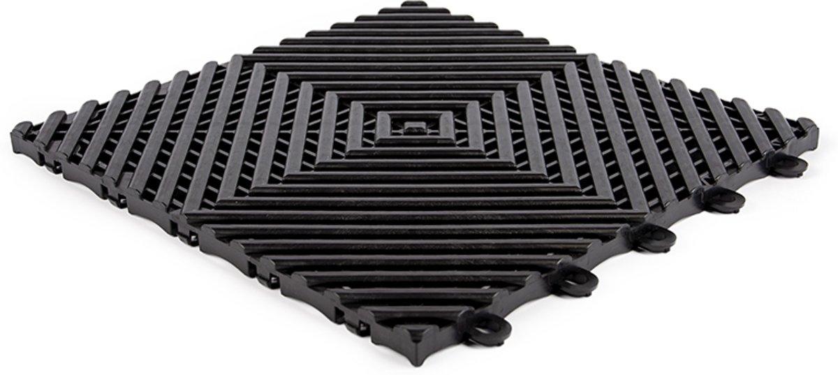 Open kliktegel hard 10 zwart 30x30x1,5cm (set van 10 stuks) kopen